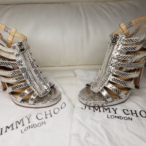 Jimmy Choo Gleny Python Sandals